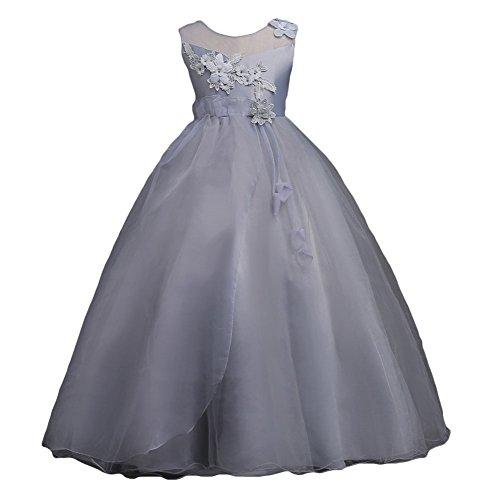 (Mädchen Kleid Hochzeitkleid - Juleya Sweet Prinzessin Lace Blumenmädchenkleider für Hochzeits Brautjungfern Festzug Partei Festliches Kleid)