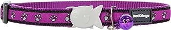 RED DINGO Collier pour Chat Pattes Violet 20-32 12 mm