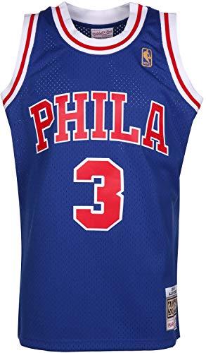 Mitchell & Ness Allen Iverson #3 Philadelphia 76ers 1996-97 Swingman NBA Trikot BLAU, S