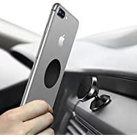 Humixx Car Phone Holder, 360° Adjustable Dashboard Car Phone Holder Magnetic Car Mount Cradle for iPhone 6 6s 7 7 Plus 8 Plus, Samsung Galaxy S9 S7 S8, HTC and Others (Leather)