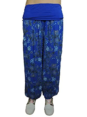 11 verschiedene Farben Damen Pumphosen Gr. 42 44 46 48 50 52 54 56 (Blau)