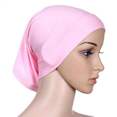 Bobury Frauen Kopftuch Elastische Schweiß Absorbierende Baumwolle Underscarf Hijab Rohr Kappe