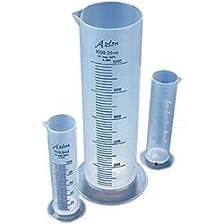 Azlon CPS0500P Éprouvette graduée compacte en polypropylène 500ml