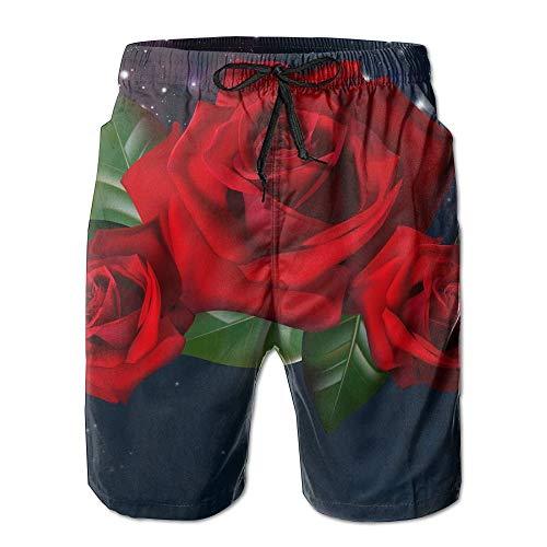 ume Schnell Trocknend Elastische Spitze Boardshorts Strand Shorts Hosen Badehose Trendy Männlichen Badeanzug Mit Taschen,Größe XXL ()