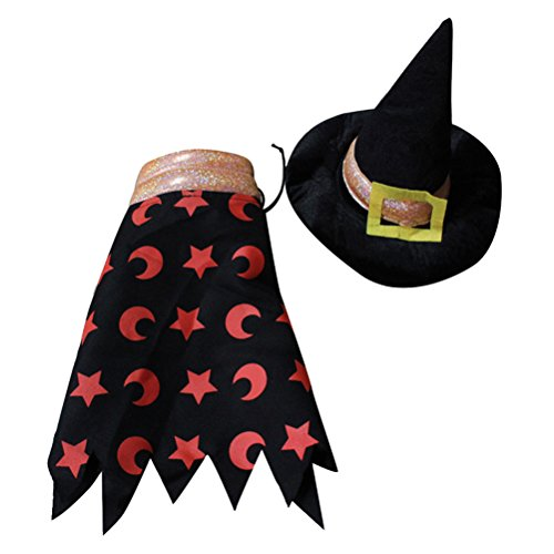 POPETPOP Pet Dog Outfit Zauberer Kostüm Halloween Party Fancy Tidy Kostüm für Hunde/Katzen Größe L