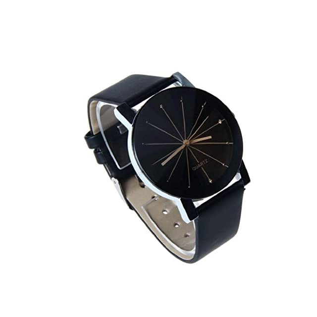 ... Montre Femme Pas Cher  luoluoluo  Cadran De Horloge Bracelet en Cuir  Montre Ronde - 244f82c3795