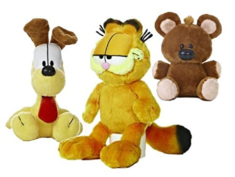 Garfield le chat en peluche Set: Garfield, Odie, Pooky par Aurora World (15cm-25cm)