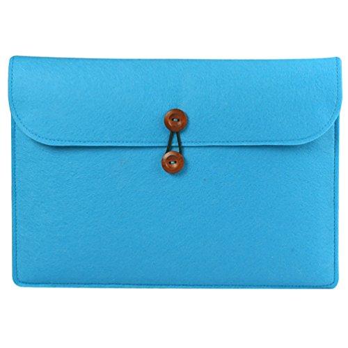 YiJee Laptophülle Notebook Hülle Sleeve Tasche Schutzhülle Aktentasche 15.4 Zoll Blauer See