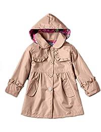 Aiweijia 2-8 años Adecuado Floral Outwear Chaqueta con Capucha Abrigo Chaqueta con Capucha con