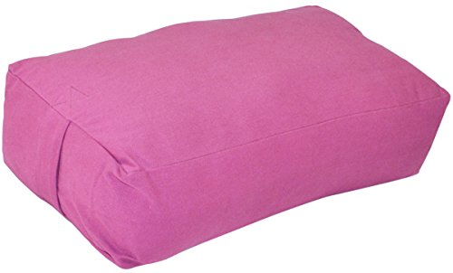 rechteckig Baumwolle Yoga Nackenrolle, rose -