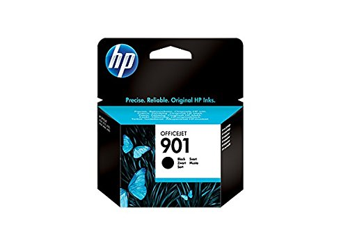 HP Cartucho de tinta negra Officejet HP 901 901 Officejet Ink Cartridges, De 20 a 80% HR, de -40 a 60 °C, de 15 a 32 °C, De 20 a 80% HR, 116 x 36 x 115 mm, 0.05 kg (0.11 libras)