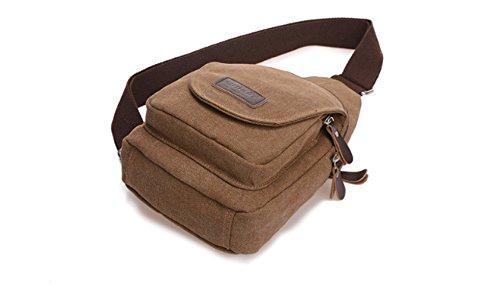 BULAGE Brusttasche Für Männer Lässig Leinwand Mode Sport Schulter Langlebig Schmutz Einfach Elegant Lightbrown