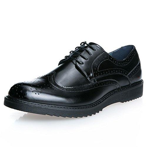 Mforshop scarpe uomo francesine parigine stringate elegante festa cerimonia nero ia1506 (41, nero)