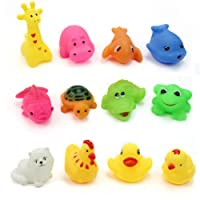 Pinzhi 12 pcs/Lot Mixed Different Animal Bath Toys Children Washing Education Toys