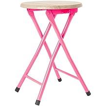 Present Time plegable taburete, color rosa
