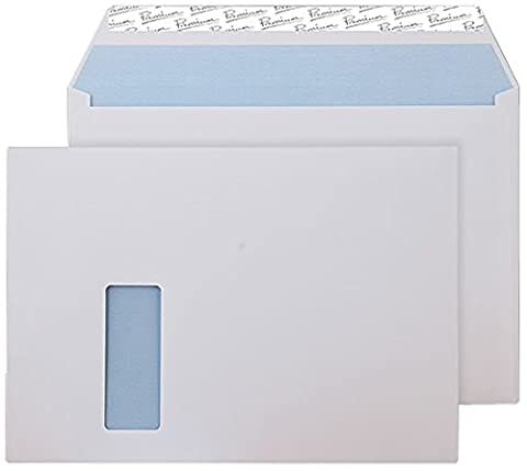 Premium Office C4 229 x 324 mm Peel and Seal Wallet Wide Window Envelope - Ultra White (Pack of