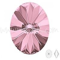 I-Beads Cristal Swarovski 4122Oval Rivoli Crystal Antique Pink 18x 13.5mm (1)