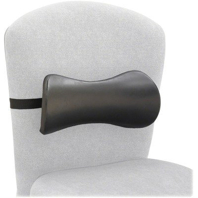Safco 7154BL - Lumbar Support Memory Foam Backrest, 14-1/2w x 3-3/4d x 6-3/4h, Black by Safco