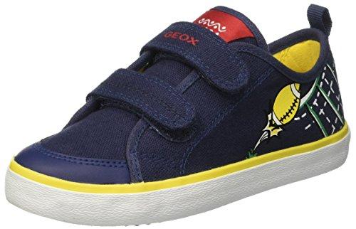 Geox Jungen Jr Kiwi Menino S Baixo-top Blau (marinha / Yellowc0657)