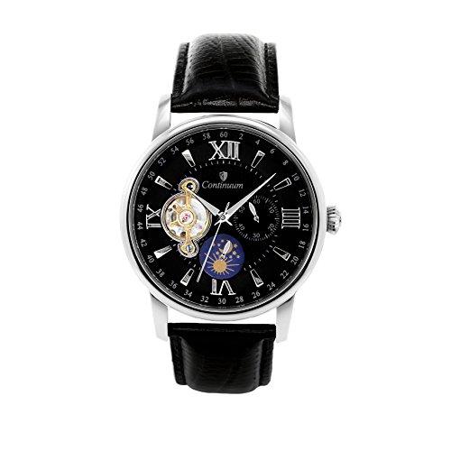 Continuum Herren-Armbanduhr Automatik Analog Leder Schwarz - C15H12
