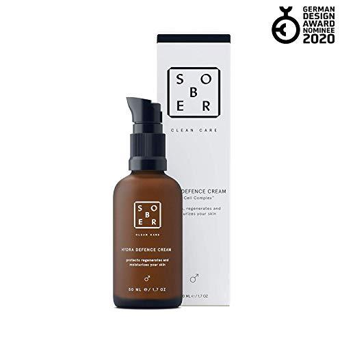 sober | Hydra Defence Cream | Gesichtscreme für Männer | vitalisierende Feuchtigkeitscreme mit...
