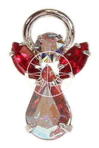Cristalli Swarovski Elements a forma di angelo custode con pietra portafortuna