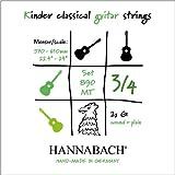 Hannabach 653089 Série 890 Cordes pour Guitare Classique pour enfants 3/4 diapason 57-61 cm Jeu Medium Tension 890MT