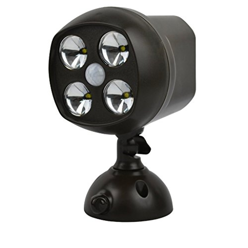 Super bright 4 led motion sensor light wireless waterproof spotlight super bright 4 led motion sensor light wireless waterproof spotlight light battery powered security lights powerful mozeypictures Image collections