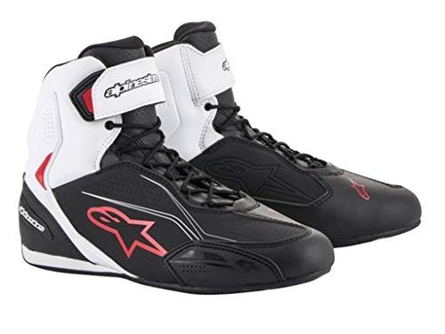 Alpinestars - Stivali Moto Faster-3 Shoes Black White Red - 45