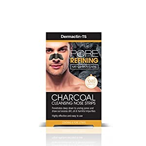 Dermactin TS Men's Pore Refining Charcoal Nose Strips 6-Count (Pack of 2)