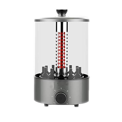 ZXX Vertikaler Rotisserie-Ofen, Elektrogrill-Multifunktion, Timing-Funktion, Grill für Grillfleisch, Schaschlik, Gyros, Würstchen, Geflügel