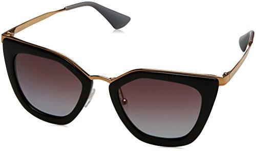 Prada Damen 0PR53SS 1AB2A0 52 Sonnenbrille, Schwarz (Black/Polargreyviolet),