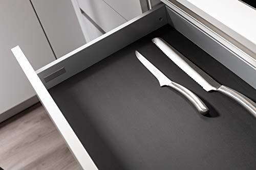 S² Interior Antirutschmatte Einlegematte schwarz für Schubladen passend für Hettich Arcitech z.B. für Nobilia Küchen UVM (473,5 x 478mm für 600er Korpusbreite)