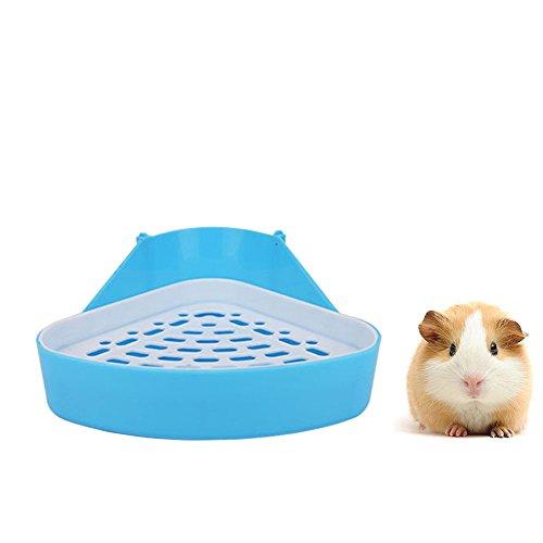 HongYH Pet Kleine Ratte WC, quadratisch Toilettentrainer Eck Betten Katzenklo Box Pet Pfanne für kleine Animal/Kaninchen/Meerschweinchen/Galesaur/Frettchen, Triangle (Katzenklo-frettchen)