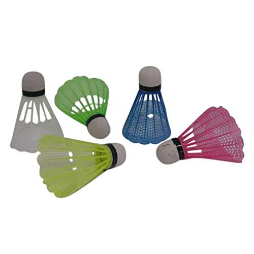 Land-Haus-Shop Badminton Bälle 5 tlg, Federball SET, 5 Stück Federbälle bunt (LHS)