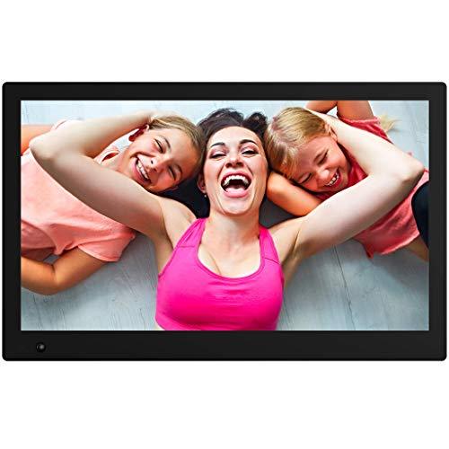 NIX Advance Digitaler Bilderrahmen 17.3 Zoll X17B. IPS Display. Elektronischer Fotorahmen mit Uhr/Kalender-Funktion. Auto On/Off (Hu-Motion Sensor). Inkl. 8GB USB-Stick und Fernbedienung