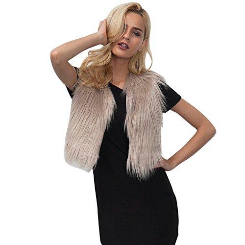 Hffan Bekleidung Damen Mode Fellweste Frau Faux Pelz Weste Ärmellos Mantel Oberbekleidung Jacke Weste übergangsjacke -