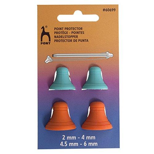 Pony Maschenstopper Bell - Sortiert, Kunststoff, Mehrfarbig, 5.7 x 3.0 x 40.5 cm