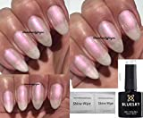 Vernis à ongles gel Moonlight & Roses Pearl 80528 par Bluesky - Vernis rose clair - Séchage sous lampe UV / LED - 10 ml - 2 lingettes LuvliNail incluses