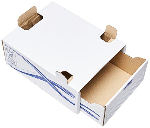 Bankers box Schubladen-Basic Ring für format A4, Karton, blau, 5 Stück