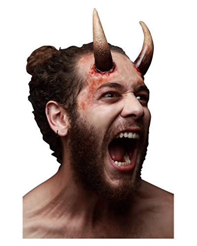 Große Dark Devil Latexhörner für Fasching & Halloween (Hörner Halloween)