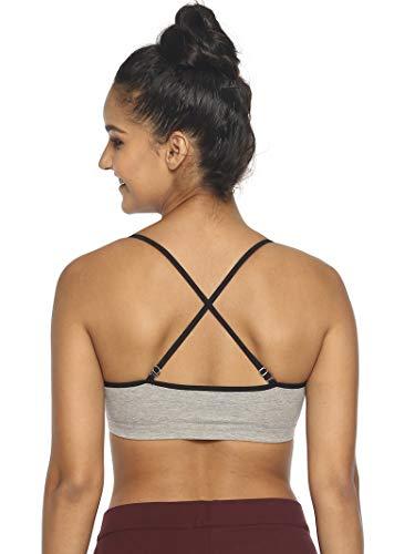 Brag Full Coverage Non-Padded Cotton Bra for Women (Grey ; Small)