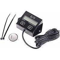 Tacómetro digital Tach para generador de barco pequeño de 2/4 tiempos, cortacésped, motocicleta, motocross, quads, Replaceable Battery without Backlit