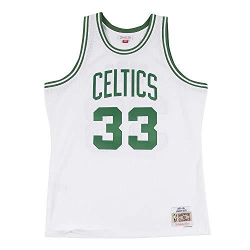 Mitchell & Ness NBA Boston Celtics Larry Bird 1985-86 White Swingman Jersey Small (White Jersey Celtics)
