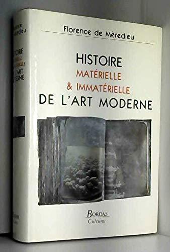 Histoire matérielle et immatérielle de l'art moderne par Florence de Mèredieu