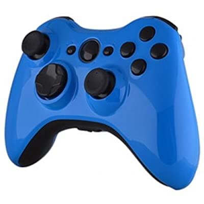 Xbox 360 Wireless Controller - Electric Blue with Black Buttons