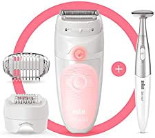 Braun Silk-épil 5-820 Epilator for Beginners Includes Shaver and Trimmer Head for Gentle Hair Removal Wet and Dry...