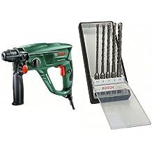 Bosch PBH 2100 RE - Martillo perforador + 2 607 019 929 - Juego de 5