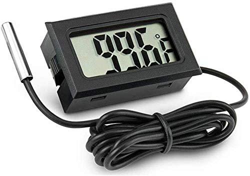 Aquarium Thermometer, LCD-Anzeige Fahrenheit (℉) Fisch-Behälter-Thermometer für Aquarium Kühlraumluftfeuchtigkeit -