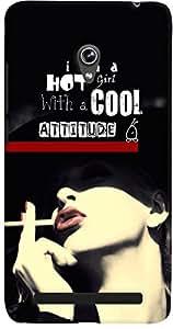 PrintVisa Quotes Attitude Case Cover for Asus Zenfone 6